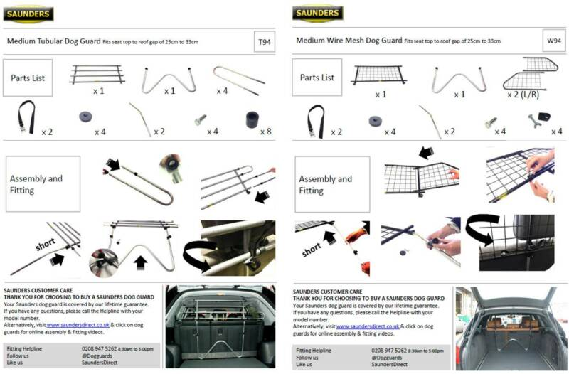Example Medium Tubular & Wire Mesh Fitting Guides