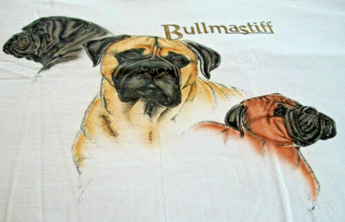 "Bullmastiff  T-shirt "" Natural "" MED ( 38 ~ 40 )"