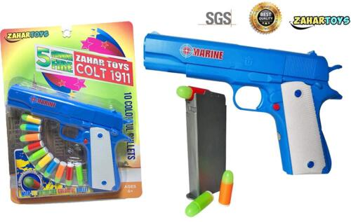 Colt 1911 Toy Gun with Soft Bullets and Ejecting Magazine Actual Size of M1911
