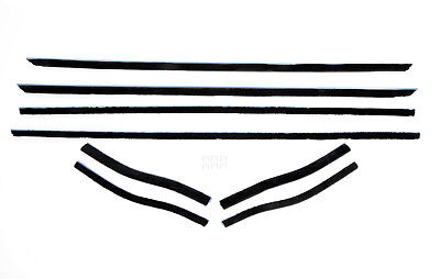 1965-66 Mustang Coupe/Convertible Window Felt Weatherstrip Kit - 8 piece kit 8 Piece Window Felt