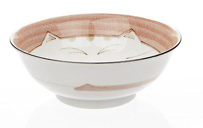 2x Japanese Porcelain Ramen Noodle Bowl Pink Cat S-2481x2