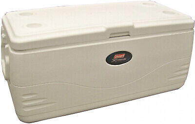Large Coleman Cooler 150 Quart Cold Ice Chest Insulated Fishing Xtreme White ()