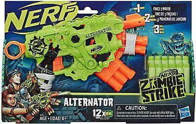 NERF Zombie Strike Alternator Blaster Includes 12 Official Zombie Strike Darts