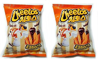 2Pack of Korean Popular Delicious Snack LOTTE CHEETOS CHOCO CHURROS 73g