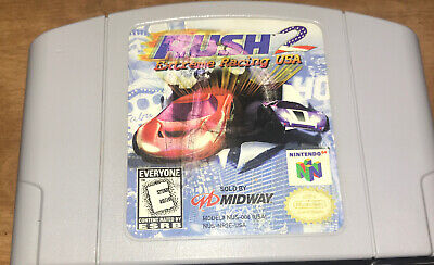 Rush 2: Extreme Racing USA (Nintendo 64, 1998) Authentic N64 Cartridge