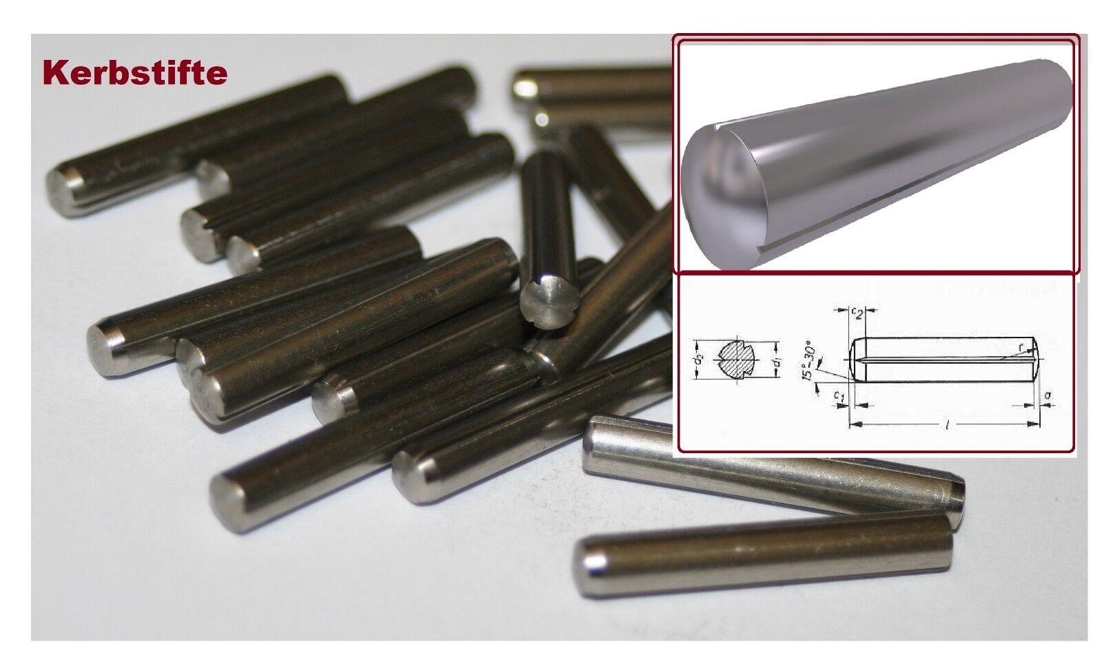 10 Stk Kerbstifte 5 x 32 DIN 1473 ISO 8740