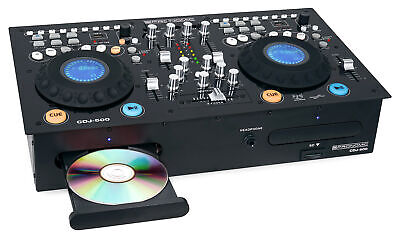 Pronomic Doppel DJ CD Player USB SD MP3 Mixer Pitch Scratch Effekt Loop EQ Phono