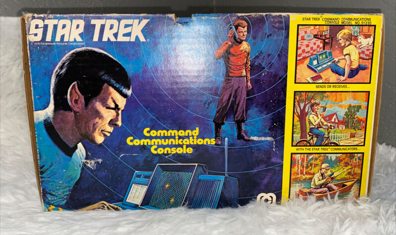 1976 Mego Star Trek Command Communications Console with Box