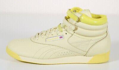 NEW Reebok Freestyle Hi Pastels Yellow Aerobic Sneaker Shoes Women's Size 11M