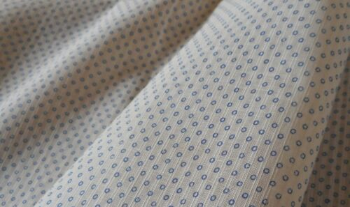 Antique Small Tiny Scale Circle Dot Dimity Cotton Fabric ~ Blue ~ dolls