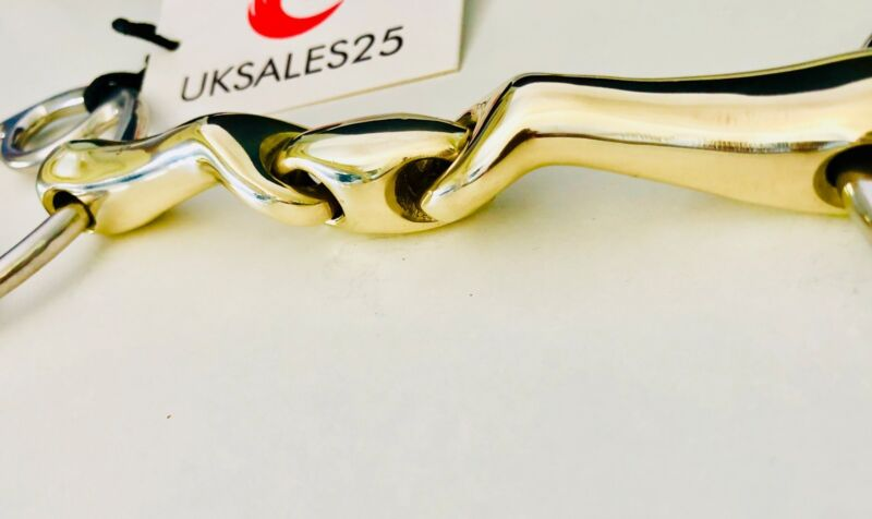 Loose Ring Wilkie Bevel Verbindend Angled Snaffle Bit with Lozenge