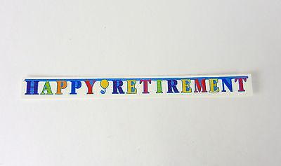 Dollhouse Miniature Happy Retirement Banner, 4