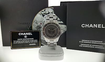 Chanel J12 Automatic Watch H2979 Grey Ceramic & Titanium 38mm Box & Papers Mint