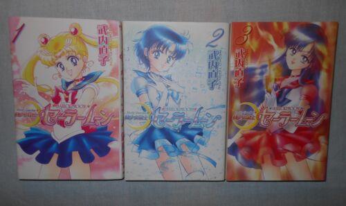 Pretty Guardian Sailor Moon Revised Manga #1-3 Japanese w/ Dust Jacket, Stickers