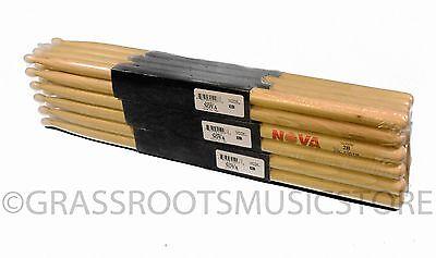 12-Pair BRICK VIC FIRTH® Nova 2B Nylon Tip DRUM STICKS N2BN Hickory Bulk NEW - Bulk Drum Sticks