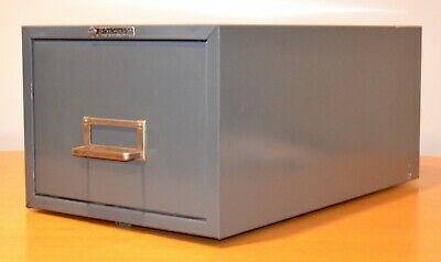 Vintage Steelmaster Single Drawer Industrial Index Card File Cabinet