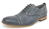 Hombre Forro De Piel Elegante Cordones Oxford Zapatos Gris Talla 6 7 8 9 10 11 -  - ebay.es
