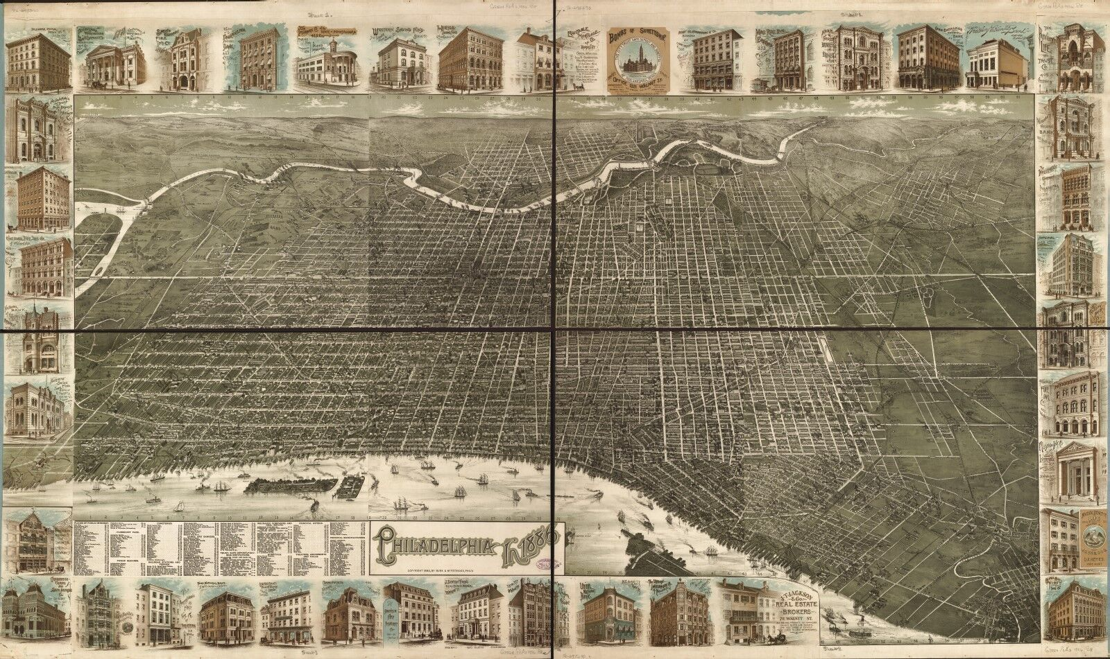 A4 Reprint of American Cities Towns States Map Central Park New York