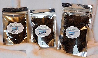 Whole Peppercorns Black   Tellicherry   From India   1 To 4 Oz  Packs