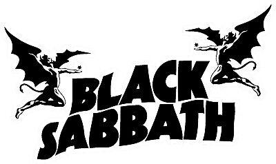 Black Sabbath Vinyl Wall logo Decal Sticker Heavy Metal Rock Band Ozzy Various  Heavy Metal Stickers