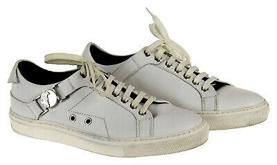 Versace Collection Men's Nickel Medusa Plaque Sneakers White 40 Eu