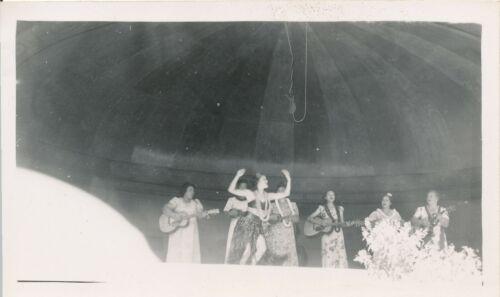 1940s WWII Hula Girl dancing, Hula Show Hawaii Photo