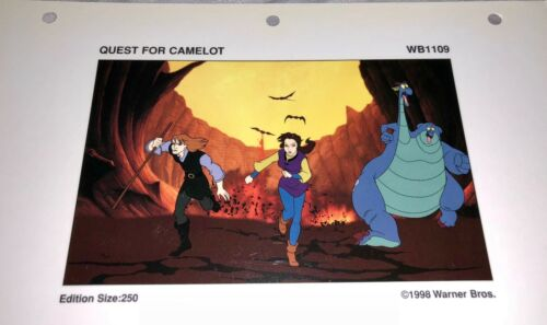 rare warner brothers quest for camelot  laminated cel promo binder page