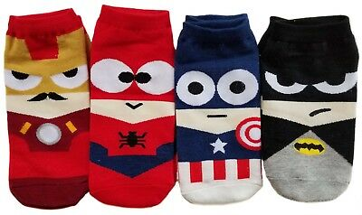 Marvel and DC Comics Super Hero Socks for Men, Women, and Children (NEW)