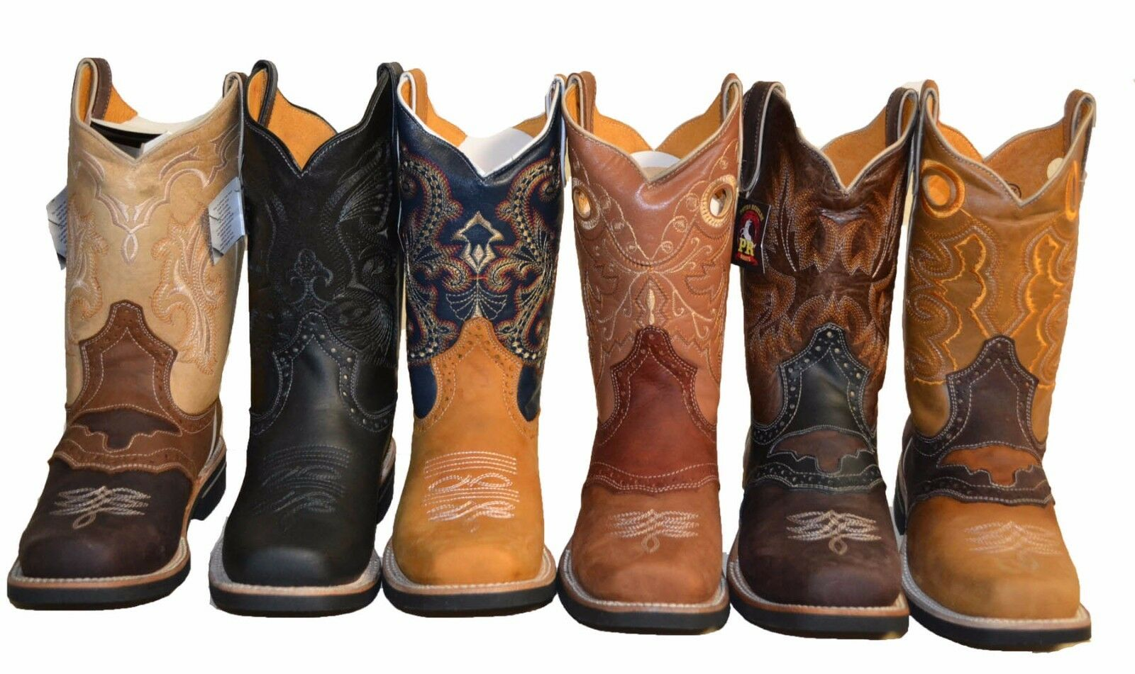 Boots - MEN'S RODEO COWBOY BOOTS GENUINE LEATHER WESTERN SQUARE TOE BOTAS