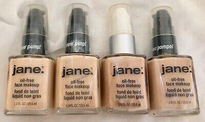 New JANE Oil-Free Makeup Foundation (Sealed) - Ivory Vanilla Bisque Beige Tan