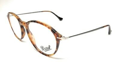 NEW PERSOL 3125-V 108 LIGHT HAVANA EYEGLASSES AUTHENTIC FRAME ITALY 51-19