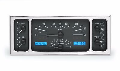 Dakota Digital 1935-36 Ford Car Gauges Black Alloy Face~Blue Display VHX-35F-K-B