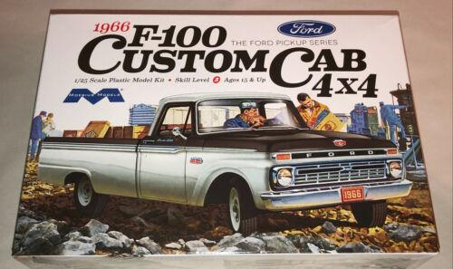 Moebius 1966 Ford F-100 Custom Cab 4x4 Pickup Truck model car kit new 1236
