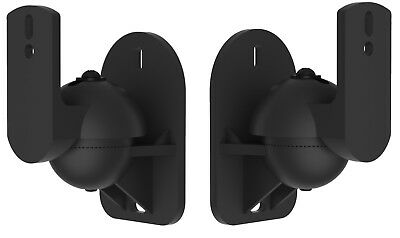 VonHaus Black 2 Sound Speaker Bracket Pack Wall Mount Universal Satellite