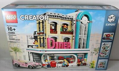 LEGO 10260 Creator Downtown Diner 2480pcs New Free Shipping