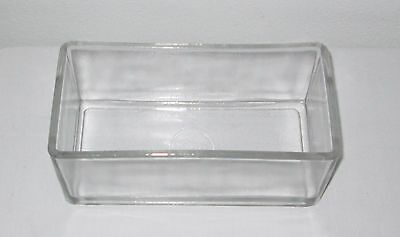 Lipshaw Microscope Slide Glass Staining Dish Nice