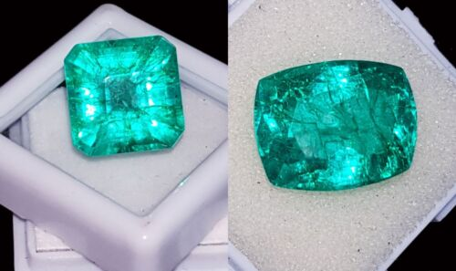 Certified Natural Emeralds Loose Gemstones 8 to 10 Cts 2 Pieces RK57