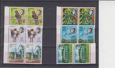 "British Indian Ocean Territory 1968 ""No Stop"" Varieties Starter Selection MNH"
