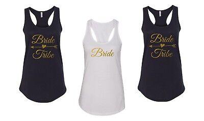 Tank Top Bride Tribe Shirt Bride Squad Tees Bridal Party Bachelorette Gift - Bachelorette Tank Tops