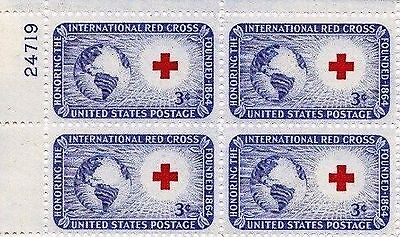 US SCOTT #1016 1952 3 CENT INTERNATIONAL RED CROSS