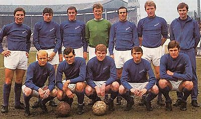 CARDIFF CITY FOOTBALL TEAM PHOTO 1968-69 SEASON