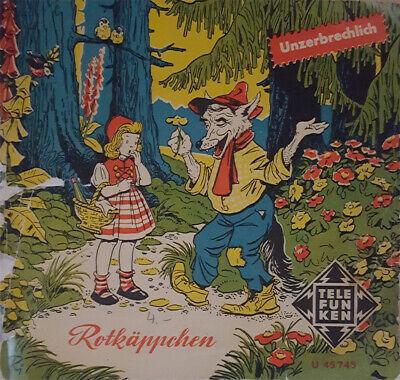 Brüder Grimm - Rotkäppchen Hörspiel LP Telefunken Schallplatte EP Single ()