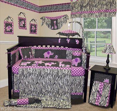 Baby Boutique - Animal Planet (Purple) - 13 pcs Crib Nursery Bedding Set