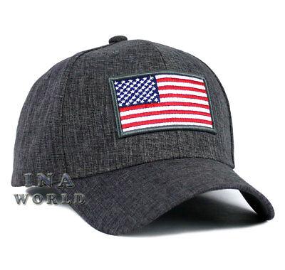 USA American Flag hat cap Stars and Stripes Snapback Baseball cap- Dark Gray
