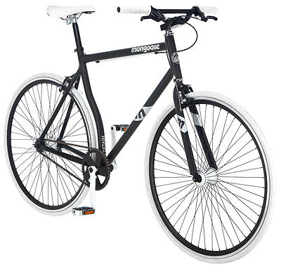 700c Mongoose Men's Bike Detain, White Black