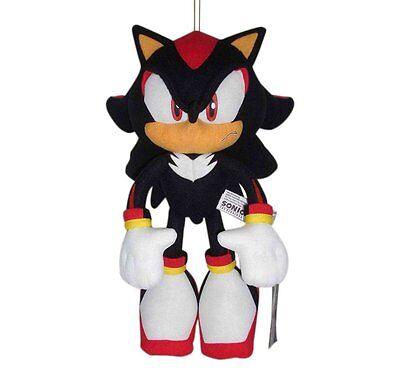 "NEW Great Eastern Sonic the Hedgehog Plush-12"" Shadow (GE-8967) BRAND NEW"