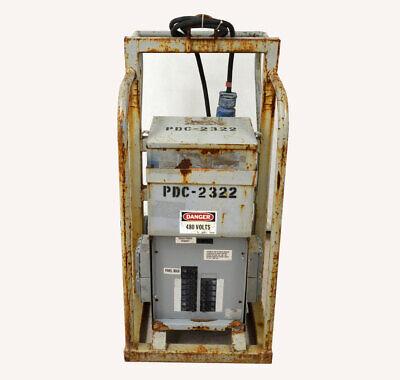 Ameco In480v 1-ph Portable Power Distribution Spider Box Breakers Out240v120v
