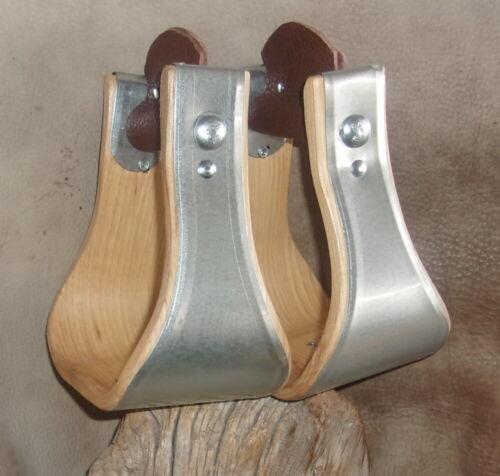 New USA Made 4 inch Bell Stirrups, For Saddle. Nice! G&E
