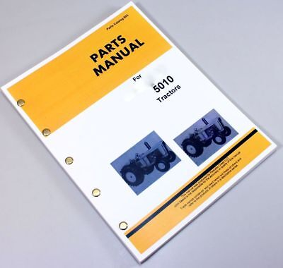 Parts Manual For John Deere 5010 Tractor Catalog Assembly Exploded Views Numbers