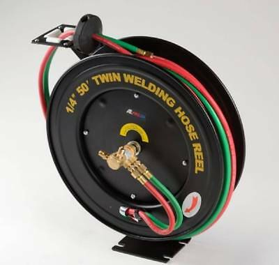 Retractable Torch Welding Hose Reel 50ft 14 Auto Rewind Oxygen Acetylene Wall